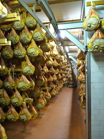 Italian Days Food Experience: Aging prosciutto