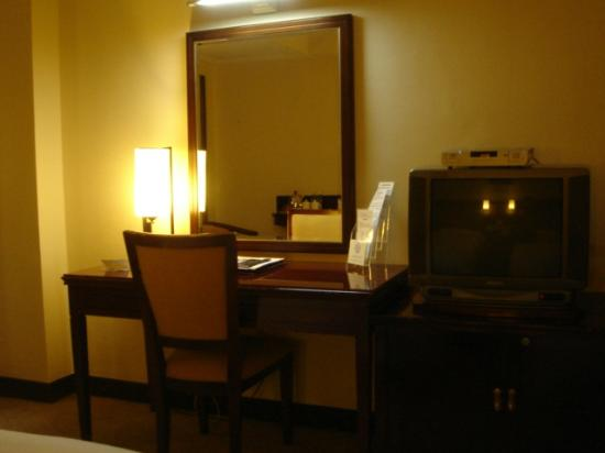 Overseas Chinese Friendship Hotel: Work desk and CRT tv