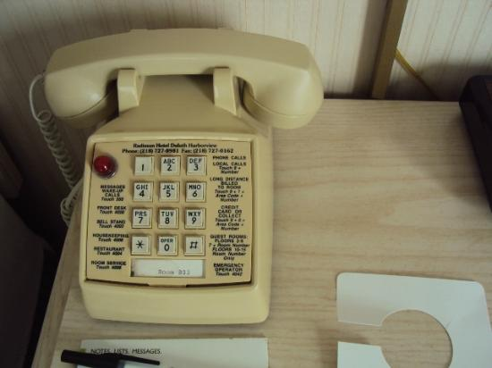 Radisson Hotel Duluth - Harborview: The phone that was in the room.