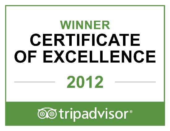 Holiday Inn Rock Hill: CERTIFICATE OF EXCELLENCE 2012