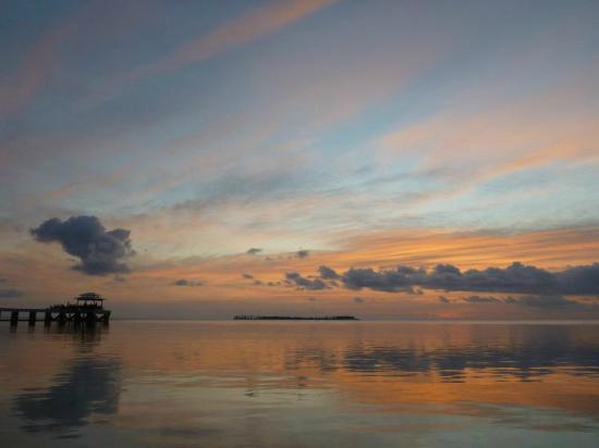 Wakatobi Dive Resort: Sunset in front of my room