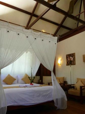 Wakatobi Dive Resort: Interior of a Select Bungalow - basic but comfortable