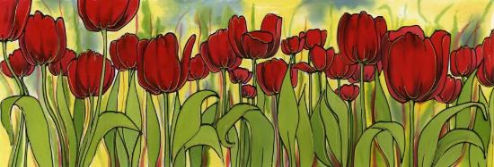 Fiona Turley, Gallery Crafts : One of Fiona's Vibrant paintings on silk,
