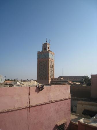 Riad Awa: uitzicht vanaf dakterras