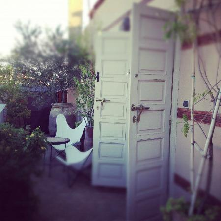 Riad Al Massarah: Jade bedroom outdoor terrace