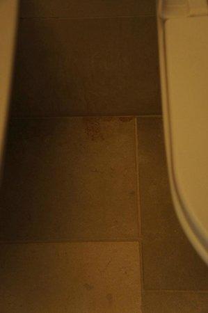 Relais Histo': Stained bathroom floor