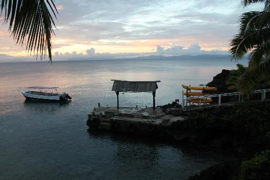 Paradise Taveuni: Cais de embarque e/ou de descida para mergulho/snorkling