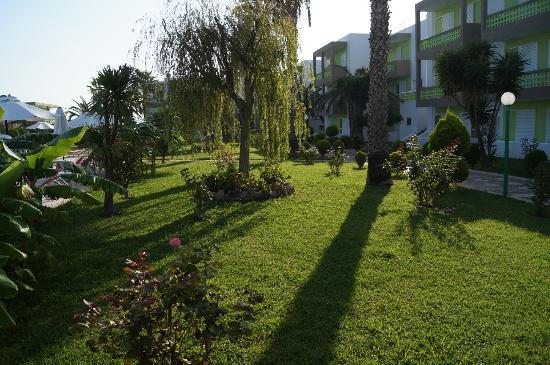 Giakalis Aparthotel: Лужайка