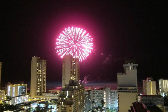 Fairway Villa: Fireworks from Rooftop