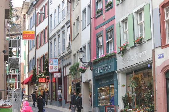 Hotel Basel: Street View right outside hotel