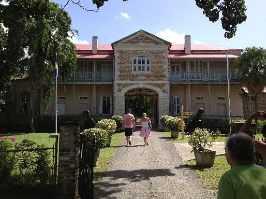 Barbados Museum & Historical Society : Outside the front entrance