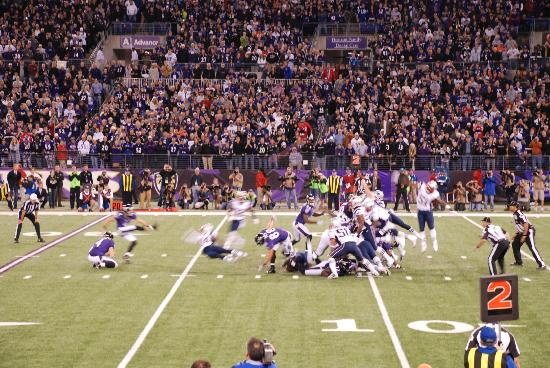 M&T Bank Stadium: Game winning field goal