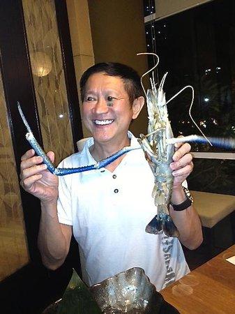 Tsukitei Japanese Dining: Biggest freshwater prawns!