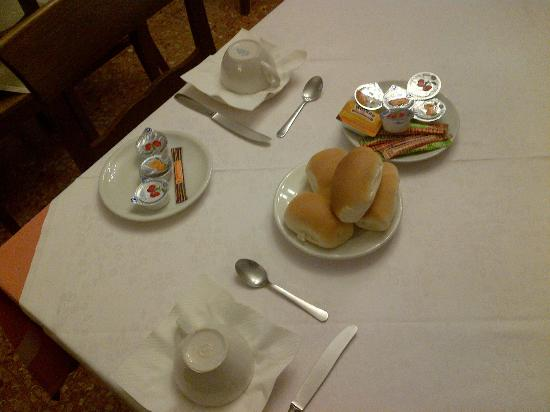 Hotel Iris: This is breakfast. That's all what you're gonna have.