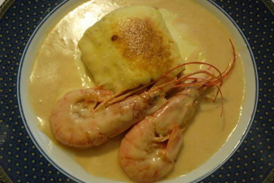 L'hort del rector: Codfish with prawns