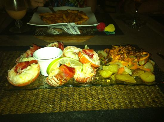 El Pecado: lobster tail dinner - dry but dipped in butter, not terrible