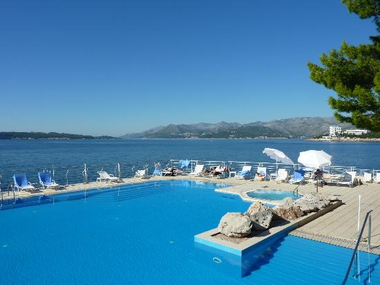 Hotel Dubrovnik Palace Pool Area And View Out To Sea