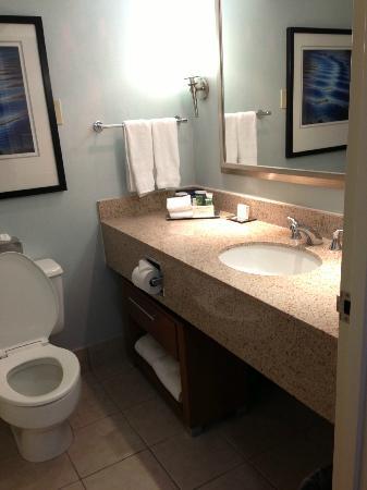 Hilton Long Island/Huntington: Bathroom - Not Remodeled