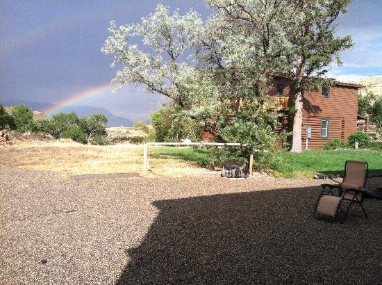 """Wapiti Lodge: """"Backyard"""" of house"""