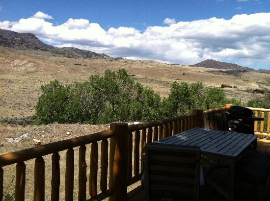 Wapiti Lodge: View from Riverhouse deck