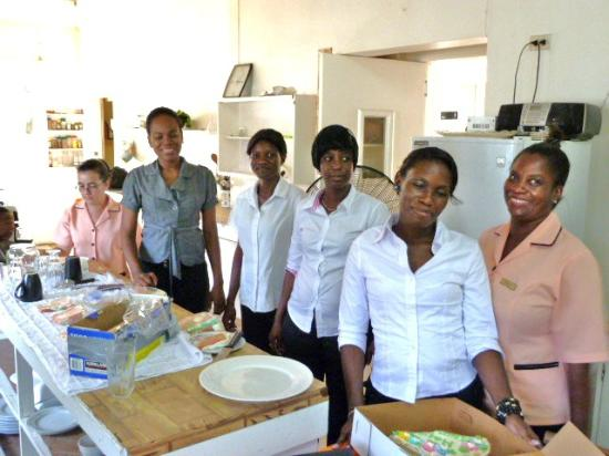 Herdmanston Lodge -- Guyana Hotels: the kitchen staff