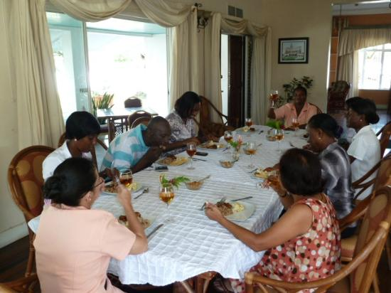 Herdmanston Lodge -- Guyana Hotels: party with the staff