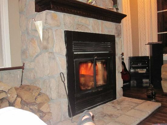 Auberge Le Voyageur: Fireplace