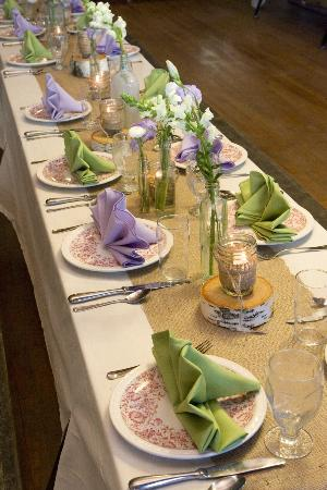Averill, VT: Wedding Dinner Decor