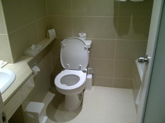 Elias Beach Hotel: spotless bathroom 