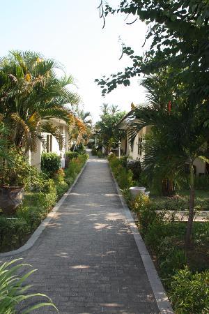 Hotel Brongto : Langs de mooi aangelegde paden liggen de kamers