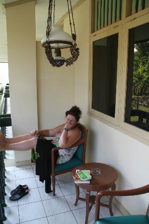 Hotel Brongto: op de veranda