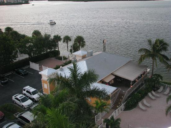 Lovers Key Resort: View of Flipper Restaurant from the balcony