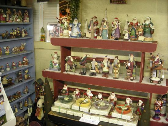 Christmas corner at the Cottage Gift Shop