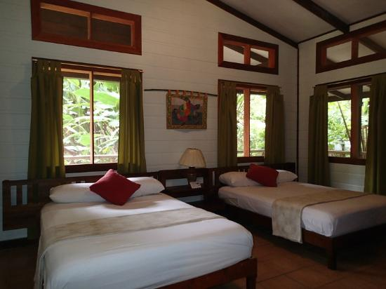 Pachira Lodge: Spacious room with 2 double beds