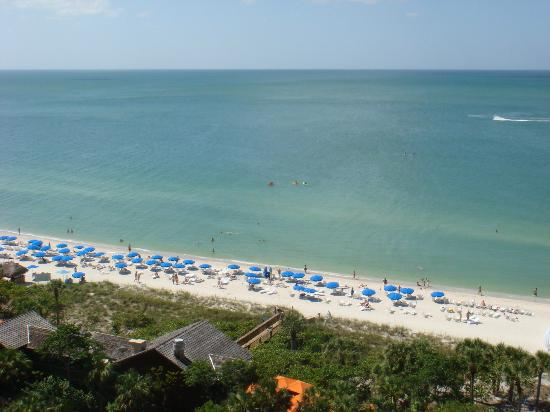 The Ritz-Carlton, Naples: View of the beach from our balcony