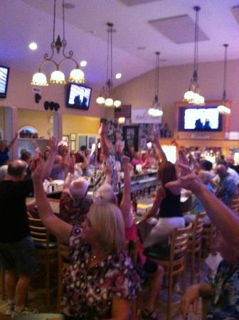 Corbin City, NJ: Our tavern side - singing God bless the USA on a friday night