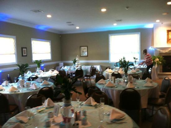 Corbin City, NJ: getting ready for a wedding in our dining room