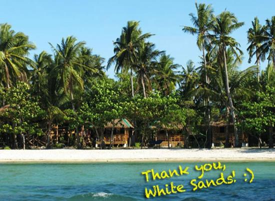 White Sand Bungalows: Post card from satisfied guests