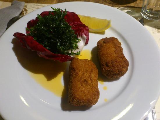 La Ferme du Boucanier: Entrée, croquettes de crevettes grises avec du persil frit