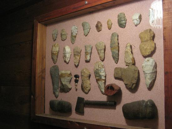 Quigley's Castle: Arrowhead collection inside the house