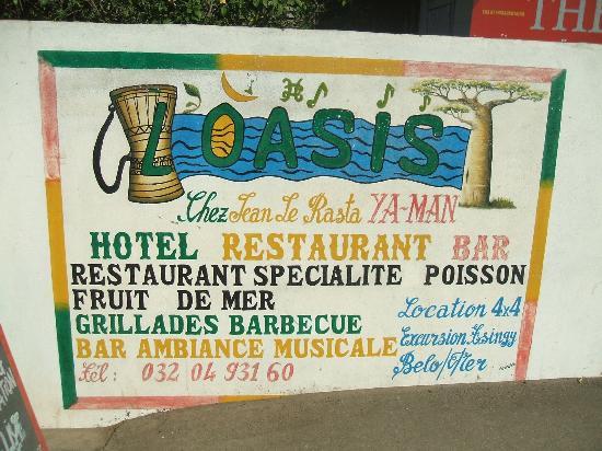 L'Oasis Hotel : enseigne