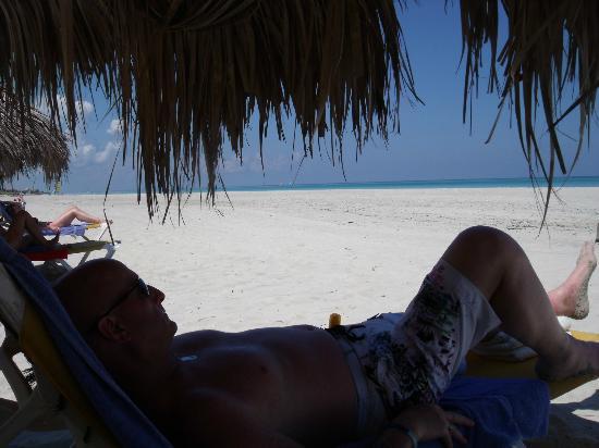 in the shade on varadero beach