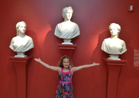 Chrysler Museum of Art: Kayla with Faith Hope and Charity@ChryslerMuseum