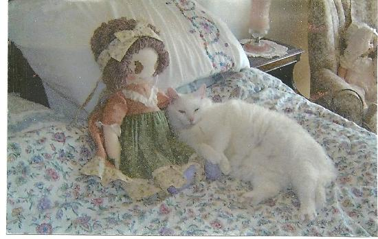 Bonnie's Bundles Dolls: Kailey with her favorite Bonnie's Bundles Doll