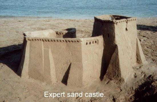 Frangokastello Beach: Perfect sand castle sand!