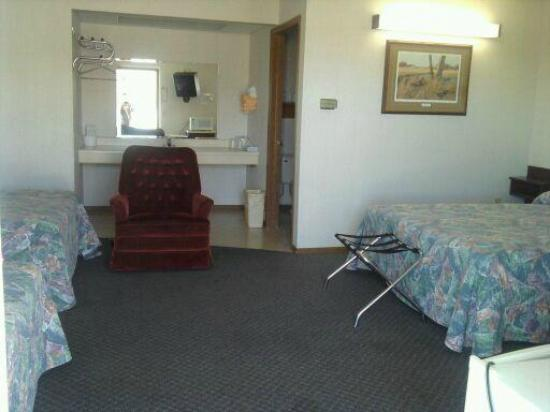 Delux Motel: Inside shot of our non-smoking triple room which has 3 beds and a recliner!