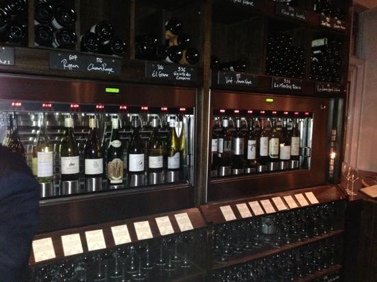 The Kensington Wine Rooms : the Enomatic wine dispensers