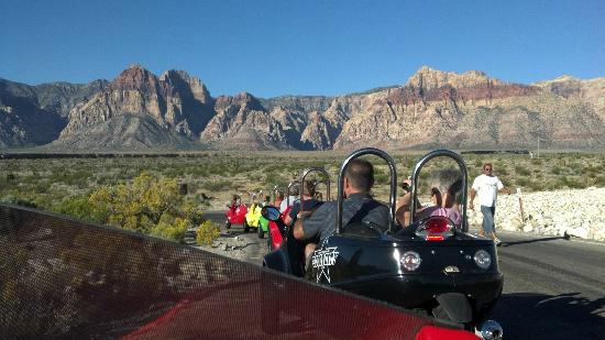 Scoot City Tours: Just trailing a group up Red Rock Canyon... You have to try this once!
