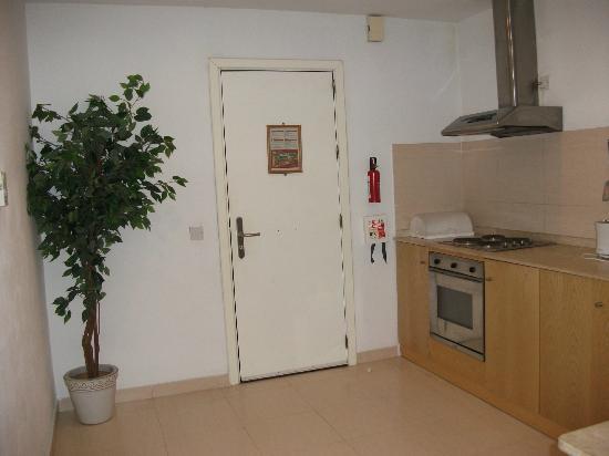 Club Salina Wharf: Bottom of kitchen area/Front door
