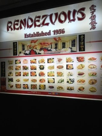 The Rendezvous Restaurant: menu
